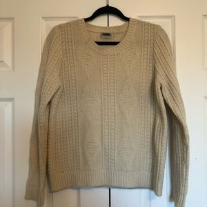 Madewell Wallace Wool Cableknit Sweater